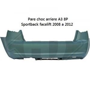 Pare choc ar A3 Sportback Facelift sans PDC