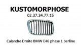 Calandre droite BMW E46 phase 1 Berline