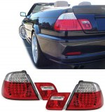 Feux arrières à leds pour BMW E46 Cabriolet Rouge Blanc