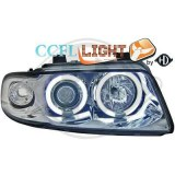 phares Angel Eyes fond chrome AUDI A4 PHASE 1