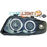 phares Angel Eyes fond noir AUDI A4 PHASE 1