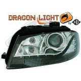 phares à LED diurnes, DragonLights, noir A3,