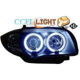 phares angel eyes, CCFL Angel Eyes, noir, H7+H7 BMW E87