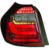 feux arriéré, BMW E87, 08-11 a led cristal/rouge-noir