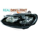 Phare golf 6 look GTD a led cristal/noir