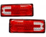 FEUX ARRIERE LED Rouge/Cristal POUR MERCEDES CLASSE G W463