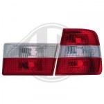 Feux Arrières pour BMW E34 berline Cristal Rouge Blanc