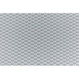 Grille en aluminium gris 125 x 20cm