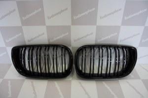 Grille de Calandre noir brillante double baton look M4 BMW E46 berline phase 1 2001 a 2005