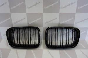 Grille de Calandre noir brillante double baton look M4 BMW E46 berline phase 1 98 a 2001