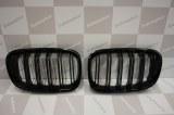 Grille de Calandre noir brillante double baton look M4 BMW F20 F21 2011 a 2015