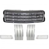 Pack Calandre Noir Argent pour Range Rover Vogue 2013- Up Black Grey Edition