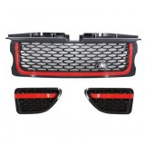 PACK CALANDRE LOOK AUTOBIOGRAPHY POUR RANGE ROVER SPORT Black Red Edition