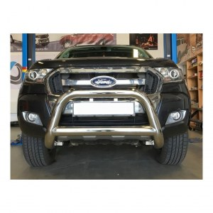 Pare buffle inox version 1 pour Ford Ranger T6 - Ø90mm