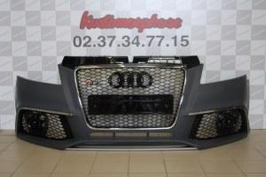 Pare choc av Audi A3 Type RS3 avec calandre Chrome 08-2012