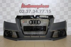 Pare choc av Audi A3 Type RS3 avec calandre noir 08-2012