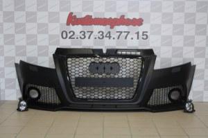 Pare choc avant Audi A3 look RS3 calandre noir 08-2012