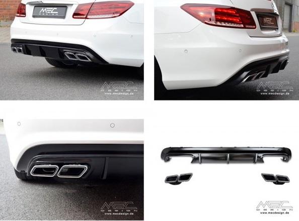 Diffuseur Embouts D Echappement Mec Design Pour Mercedes Classe E Coupe C207 Pack Amg 2009 A 2013
