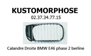 Calandre droite BMW E46 phase 2 Berline