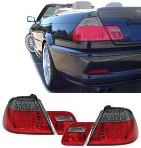 Feux arrières pour BMW Série 3 Cabriolet E46 rouge fumé