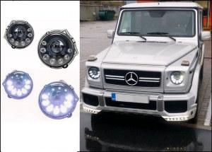 Phare avant LED Noir facelift design pour Mercedes classe G W463
