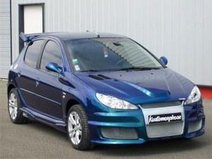 Pare chocs avant Peugeot 206 & 206CC look Audi