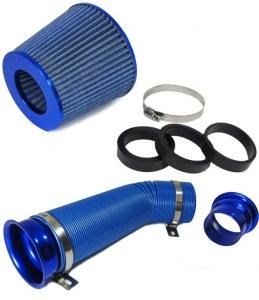 Kit admission direct avec boa d'air Filtre anodisé Bleu 60/65/70MM