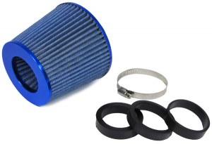 Filtres à Air Power- Filter, Anodisé Bleu, universel, 60/65/70MM