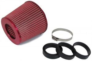 Filtres à Air Power- Filter, Anodisé Rouge, universel, 60/65/70MM