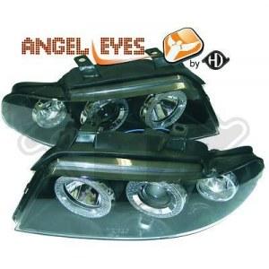 phares Angel Eyes fond noir AUDI A4 PHASE 2 99-01