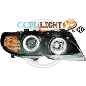 Phares avants Angel eyes CCFL pour BMW Série 3 E46 01-05