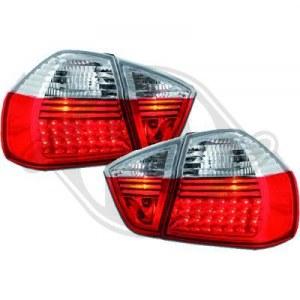 FEUX ARRIÈRES À LEDS POUR BMW E90 SÉRIE 3 ROUGE BLANC