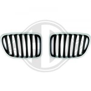 Calandre pour BMW X1 Noir Chrome