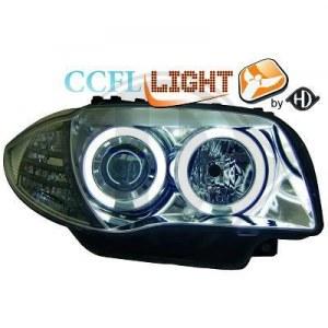 phares angel eyes, CCFL Angel Eyes, Chrome, H7+H7 BMW E87