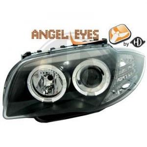 phares Angel Eyes fond noir BMW E87