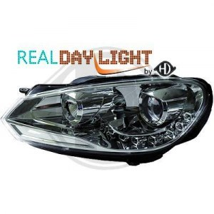 Phare golf 6 look GTD a led cristal/chrome