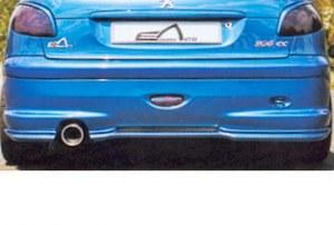 Lame arrière pour bouclier d'origine 206 S16 ou XS