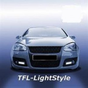 Feux diurnes, LED, VW Golf 5 GTi, chrome
