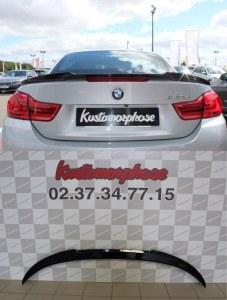 Aileron becquet noir brillant BMW serie 4 M4 cabriolet F83 F33