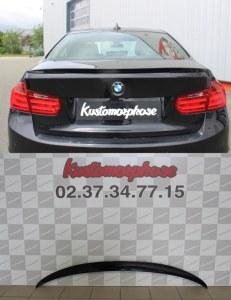 aileron becquet BMW serie 3 F30 type M performance Noir brillant