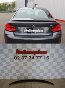 Becquet de coffre pour BMW M2 Performance Carbone