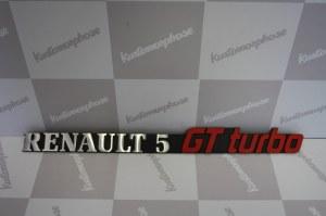 Anagramme logo arrière en alu Renault 5 GT Turbo