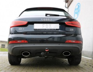 Silencieux arrière duplex inox pour Audi Q3- Oval 160x90