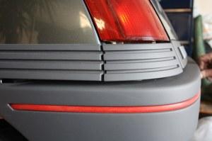 Bandeau rouge pour pare-chocs Renault 5 GT Turbo Phase 1 Arrière