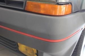 Bandeau rouge pour pare-chocs Renault 5 GT Turbo Phase 1 Avant