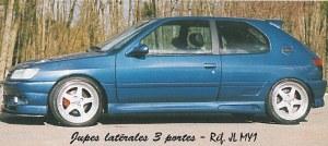 """Bas de caisse """"Mygale"""" Esquiss'Auto pour peugeot 306 3 portes"""