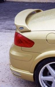 """Becquet de coffre grand modèle """"Nickel"""" Esquiss'Auto pour 307 CC avec feux de position"""