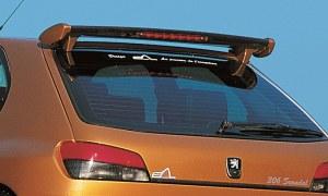 """Becquet de toit avec feux stop """"Scandal"""" Esquiss'Auto Peugeot 306"""