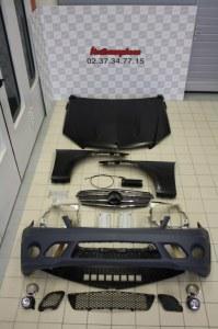 bloc avant complet capot pare-choc ailes mercedes w204 C63 AMG 2007-2011