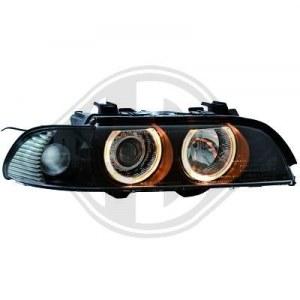 Feu avant Optique angel eyes fume noir BMW E39 de 95 à 00